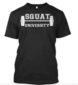 SquatU Shirt in Black