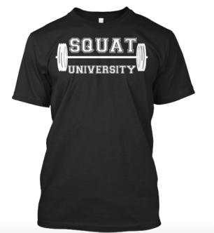 SquatU Shirt in Black